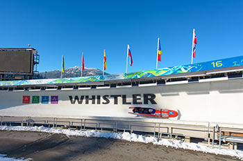 bobsleighing in whistler olympic park
